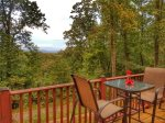 Ocoee River Area cabin rentals-Deck View